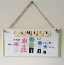 Wooden Personalised Handmade New wall door Plaque house warming family Gift