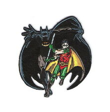 Batman and Robin Figures Running Embroidered Iron On Patch, NEW UNUSED