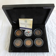 ARMISTICE DAY 2014 SILVER PROOF TDC CROWN AND WWI PENNIES COLLECTION - boxed/coa