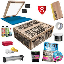 Color Silk Screen Printing Full Screening Set Kit Classic Table Top