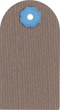 QuicKutz Lifestyle Crafts 2x2 Single Die TAG Label, Title, Name, Gift  RS-0800