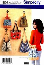 Simplicity Sewing Pattern 1598 Women's Purse Bags Totes shoulder Handbags