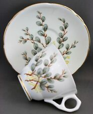 ROYAL STAFFORD TEACUP & SAUCER-PUSSYWILLOWS   J 393