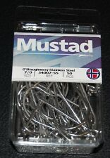 50 Mustad 34007SS-70 Size 7/0 Saltwater Stainless Steel O'Shaughnessy Hooks