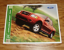 Original 2004 Ford Explorer Sport Trac Sales Brochure 04 XLT