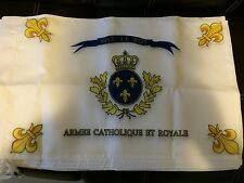 DRAPEAU BONCHAMPS SACRE COEUR ROYAL CHOUANS ROI FRANCE VENDEE CATHOLIQUE ROYAL