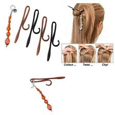 New 4pcs Women's Girls Ladies Twist N Clip For Your Hair CB
