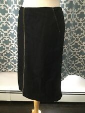 NWT J.Crew Black Wool Blend Piped Pencil Skirt Size 6