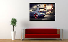 BBM VW GOLF 6 REAR NEW GIANT LARGE ART PRINT POSTER PICTURE WALL