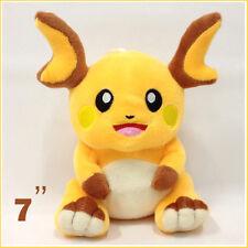 """Pokemon Raichu from Pikachu Plush Soft Toy Stuffed Animal Cuddly Doll Teddy 7"""""""