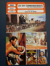 Charlton Heston Religious Historical film The Ten Commandments French Trade Card
