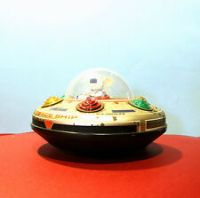 MASUDAYA JAPAN UFO Vintage 70s 80s Tin Toy Light Up battery operated Space age