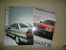 Renault 21 brochure + what the press said.  1986. mint