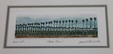 Janet Edwards Palm Rows Signed Etching Print Artist California Art Tree Framed