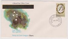 (OO-114) 1972 AU FDC 7c coronation blanked out (A)