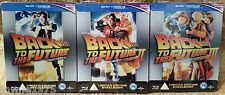 BACK TO THE FUTURE I II III 1 2 3 Blu-Ray UK Exclusive STEELBOOKS Trilogy Lot