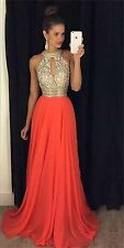 Sexy 2016 Evening Prom Ball Gown Major Beading Long Formal Pageant Party Dress