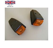 2 X ORANGE SIDE MARKER ROOF LAMPS LIGHTS 12/24V LORRY TRAILER TRUCK E-MARKED