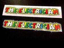 THE ELECTRICIAN Car Helmet Fairing Motorcycle Scooter Stickers Decal 2 off 140mm