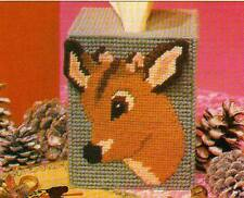 REINDEER TISSUE BOX COVER CHRISTMAS PLASTIC CANVAS PATTERN INSTRUCTIONS