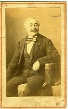 CARTE DE VISITE CDV PHOTO PARIS NADAR UN HOMME POSE 1860 ALBUMEN