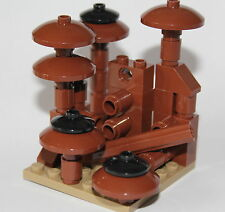built from LEGO reddish brown parts OLD FOREST and MUSHROOMS - tan plate
