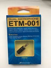 Edutige doble micrófono ETM-001 para GoPro, Portátiles, Etc