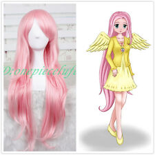 85CM pink My Little Pony Fluttershy straight Cosplay Wig CC05+a wig cap