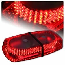Excellent Oval 12V 240 LED Emergency Hazard Warning Mini Bar Strobe Light- Red