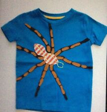 NWT 2/3 Mini Boden Blue Sht/Sl Spider Applicade Tee