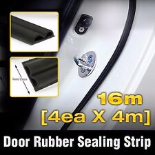 Car Door Auto Noise Guard Rubber Wind Seal Strip Molding 4ea B type For TOYOTA