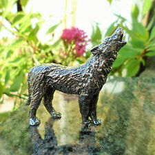 Pewter Wolf Ornament, Antiqued Finish; Make Ideal 10th Anniversary Gift -92% Tin
