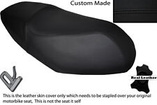 BLACK STITCH CUSTOM FITS PEUGEOT V CLICK 50 07-13 DUAL LEATHER SEAT COVER