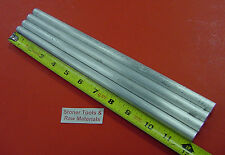 "4 Pieces 1/2"" ALUMINUM 6061 ROUND ROD 12"" long .500"" Solid T6511 Lathe Bar Stock"