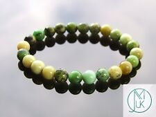 Chrysoprase Natural Gemstone Bracelet Beaded 7-8'' Elasticated Healing Chakra