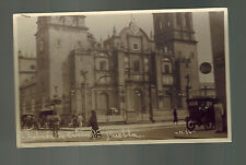 1922 Puebla Mexico Real Picture RPPC Postcard Cover to Brazil Cathedral View