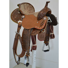 "New! 13.5"" Dynamic Edge Fallon Taylor Barrel Racing Saddle by Cactus Saddlery"