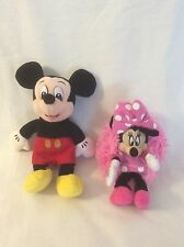 Set Of 2 Disney Hide Away Pets Minnie Mouse & WDW Mickey Mouse Stuffed Animal