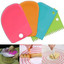 3pcs Pastry Butter Dough Cake Baking Cookie Scraper Decorating Cutter DIY Tools