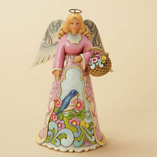 New Jim Shore Rejoice in Spring Showers Spring Angel With Bluebird 4033821