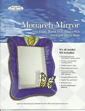 Monarch Mirror Peel & Stick Stained Glass Supplies Patterns Spectrum Glass