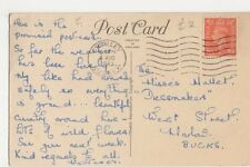 The Misses Mallet, Dressmakers, West Street, Marlow 1943 Postcard, B086