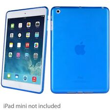 New Verizon Teal Blue Apple iPad Mini 1 2 3 High Gloss Silicone Gel Case Cover