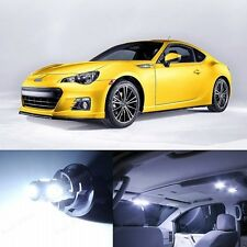 8 x Xenon White LED Interior Lights& Plate Package For 2013-2014 Scion FRS FR-S