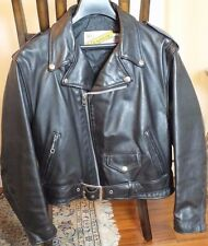 Vintage PERFECTO Black Leather SCHOTT Motorcycle JACKET Size 12 34 Rocker BIKER