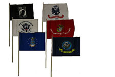 """12x18 12""""x18"""" Wholesale Lot of 6 U.S. Military w/ Pow Mia POWMIA Stick Flag"""