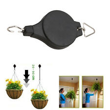 2Pcs Retractable Pulley Hanging Basket Pull Down Hanger Garden Plant Pots Hook