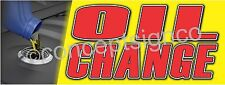 2'X5' OIL CHANGE BANNER Outdoor Indoor Sign Auto Service Used Car Repair Shop