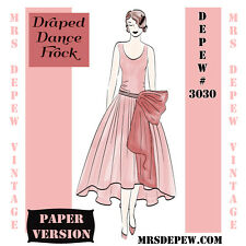 Vintage Sewing Pattern Instructions 1920's Flapper Draped Dress Booklet #3030