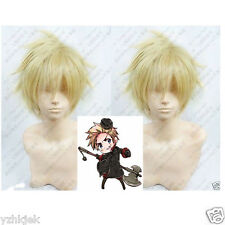 Hetalia Axis Powers Denmark Blonde Cosplay Wig H137